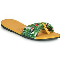 Schoenen Dames Teenslippers Havaianas YOU SAINT TROPEZ Geel / Groen
