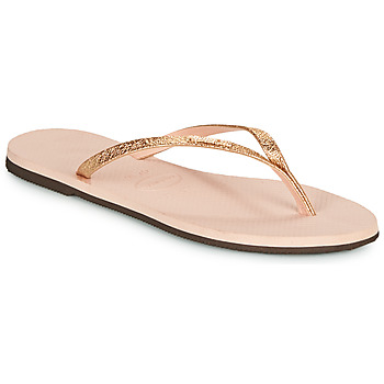 Schoenen Dames Teenslippers Havaianas YOU SHINE Roze