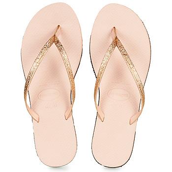 Schoenen Dames Teenslippers Havaianas YOU SHINE Roze