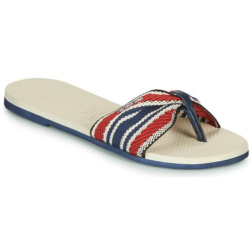 Schoenen Dames Teenslippers Havaianas YOU SAINT TROPEZ FITA Beige / Marine / Rood