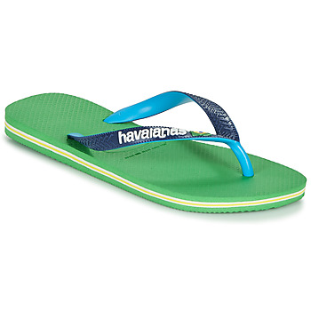 Schoenen Teenslippers Havaianas BRASIL MIX Groen / Blauw