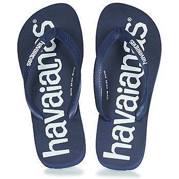 Schoenen Teenslippers Havaianas TOP LOGOMANIA Marine / Blauw