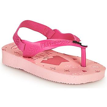Schoenen Meisjes Teenslippers Havaianas BABY DISNEY CLASSICS II Roze