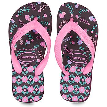 Schoenen Meisjes Teenslippers Havaianas KIDS FLORES Aubergine