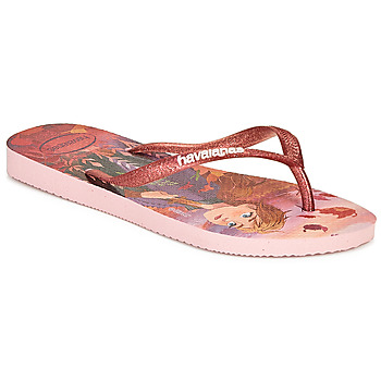 Schoenen Meisjes Teenslippers Havaianas KIDS SLIM FROZEN Roze