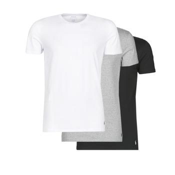 Textiel Heren T-shirts korte mouwen Polo Ralph Lauren WHITE/BLACK/ANDOVER HTHR pack de