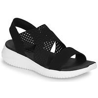 Schoenen Dames Sandalen / Open schoenen Skechers ULTRA FLEX Zwart / Wit