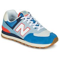 Schoenen Lage sneakers New Balance 574 Blauw / Grijs / Oranje