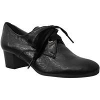 Schoenen Dames Derby Folies Macao Zwart leer