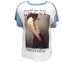 Textiel Dames T-shirts korte mouwen By La Vitrine Tee-shirt B005 Bleu/Blanc Blauw