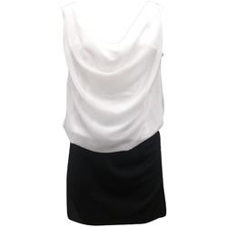 Textiel Dames Jurken By La Vitrine Robe Noir Blanc Coco Giulia 0Y-019 Zwart