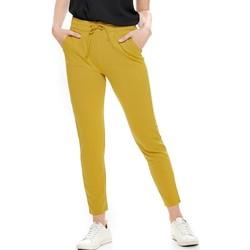 Textiel Dames Broeken / Pantalons Jacqueline De Yong  Geel