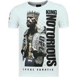 Textiel Heren T-shirts korte mouwen Local Fanatic King Notorious Luxe W Wit