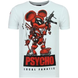 Textiel Heren T-shirts korte mouwen Local Fanatic Psycho Mouse Leuke W Wit
