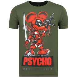 Textiel Heren T-shirts korte mouwen Local Fanatic Psycho Mouse Party G Groen