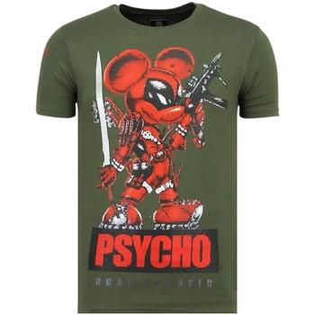 Textiel Heren T-shirts korte mouwen Local Fanatic Psycho Mouse - Party T-Shirt - 6321G - Groen
