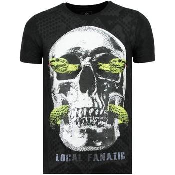 Textiel Heren T-shirts korte mouwen Local Fanatic Skull Snake - Vette T-Shirt - 6326Z - Zwart