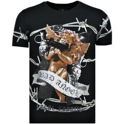 Textiel Heren T-shirts korte mouwen Local Fanatic Bad Angel - T-Shirt - 6318N - Blauw