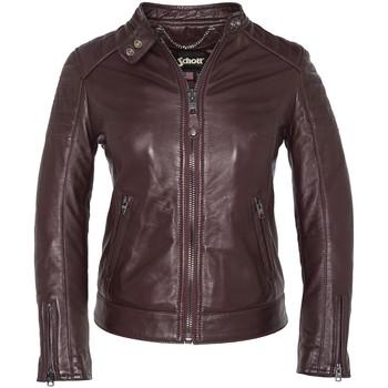 Textiel Dames Wind jackets Schott BLOUSON MOTARD AC LCW HARVEY   MATELASSES  NOIR Zwart