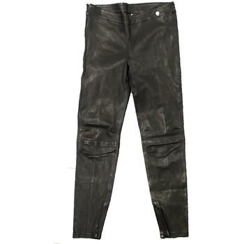 Textiel Dames Losse broeken / Harembroeken Rich & Royal Pantalon Noir Cuir 13Q997 Zwart