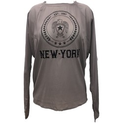 Textiel Dames Tops / Blousjes Charlie Joe Top New york Est 1967  Taupe Bruin