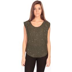 Textiel Dames Tops / Blousjes Charlie Joe Top Pearl Vert Groen