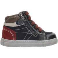 Schoenen Jongens Hoge sneakers Nero Giardini A724352M Blue Gray and Bordeaux