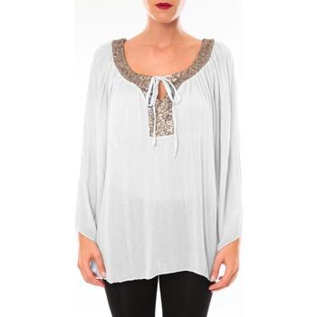 Textiel Dames Tunieken Tcqb Tunique TDI paillettes Blanc Wit