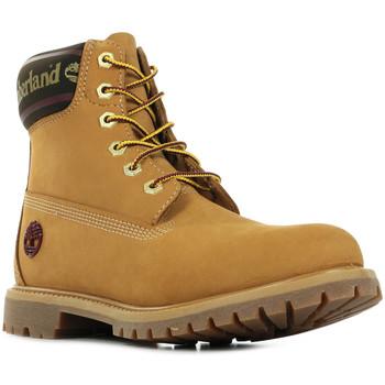 Schoenen Dames Laarzen Timberland 6in Logo Collar Boot Bruin
