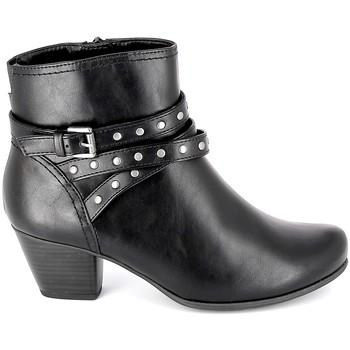 Schoenen Dames Enkellaarzen Jana Boots 25362-23 Noir Zwart