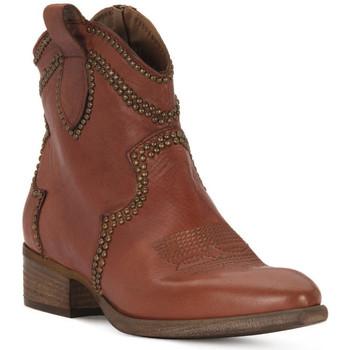 Schoenen Dames Enkellaarzen Priv Lab ROSSO BUFALO Rosso