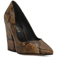 Schoenen Dames pumps Priv Lab DECOLTE PITONE Marrone