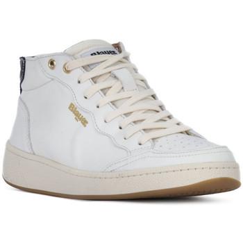 Schoenen Dames Hoge sneakers Blauer OLYMPIA Bianco