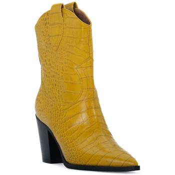 Schoenen Dames Enkellaarzen Priv Lab OCRA COCCO Giallo