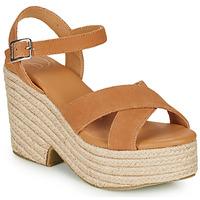 Schoenen Dames Sandalen / Open schoenen Superdry HIGH ESPADRILLE SANDAL Cognac