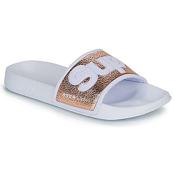 Schoenen Dames slippers Superdry EVA 2.0 POOL SLIDE Wit / Goud
