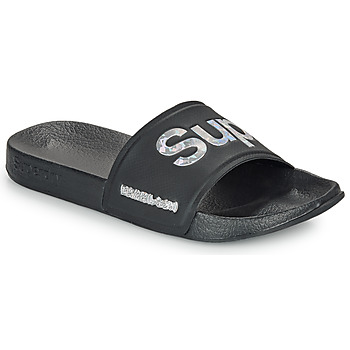 Schoenen Dames slippers Superdry HOLO INFIL POOL SLIDE Zwart
