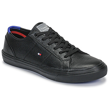 Schoenen Heren Lage sneakers Tommy Hilfiger CORE CORPORATE FLAG SNEAKER Zwart