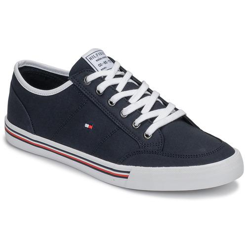 Schoenen Heren Lage sneakers Tommy Hilfiger CORE CORPORATE TEXTILE SNEAKER Blauw