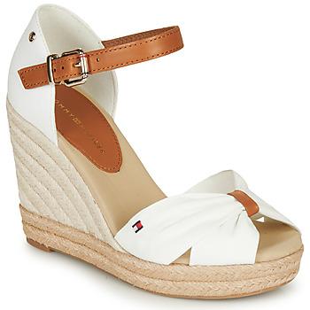Schoenen Dames Sandalen / Open schoenen Tommy Hilfiger BASIC OPENED TOE HIGH WEDGE Wit
