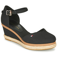 Schoenen Dames Sandalen / Open schoenen Tommy Hilfiger BASIC CLOSED TOE MID WEDGE Zwart