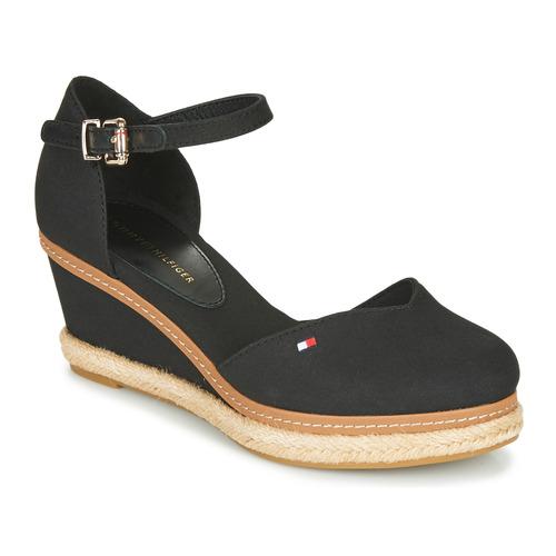 Schoenen Dames Sandalen / Open schoenen Tommy Hilfiger BASIC CLOSED TOE MID WEDGE Zwart