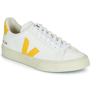 Schoenen Lage sneakers Veja CAMPO Wit / Geel