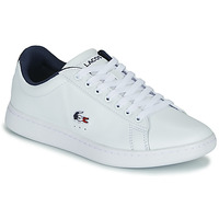 Schoenen Dames Lage sneakers Lacoste CARNABY EVO TRI 1 SFA Wit / Marine / Rood