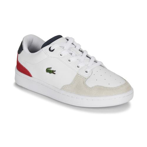 Schoenen Kinderen Lage sneakers Lacoste MASTERS CUP 120 2 SUC Wit / Blauw / Rood