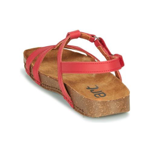 Art I BREATHE Rood - Gratis levering  Schoenen Sandalen Dames