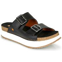 Schoenen Dames Leren slippers Art MYKONOS Zwart