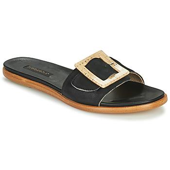 Schoenen Dames Leren slippers Neosens AURORA Zwart