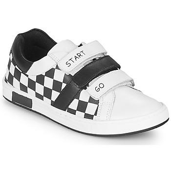 Schoenen Jongens Lage sneakers Chicco CANDITO Wit / Zwart