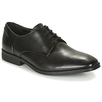 Schoenen Heren Derby Clarks GILMAN PLAIN Zwart
